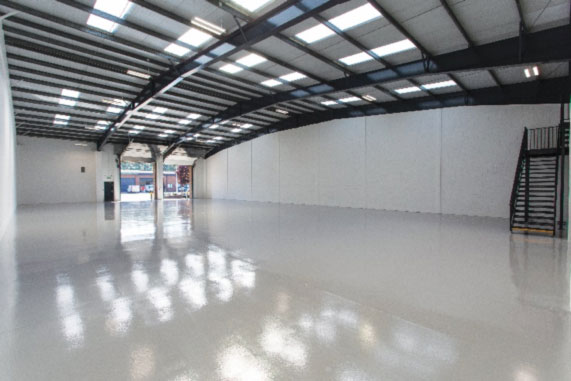 Inside a Barwell Business Park Unit